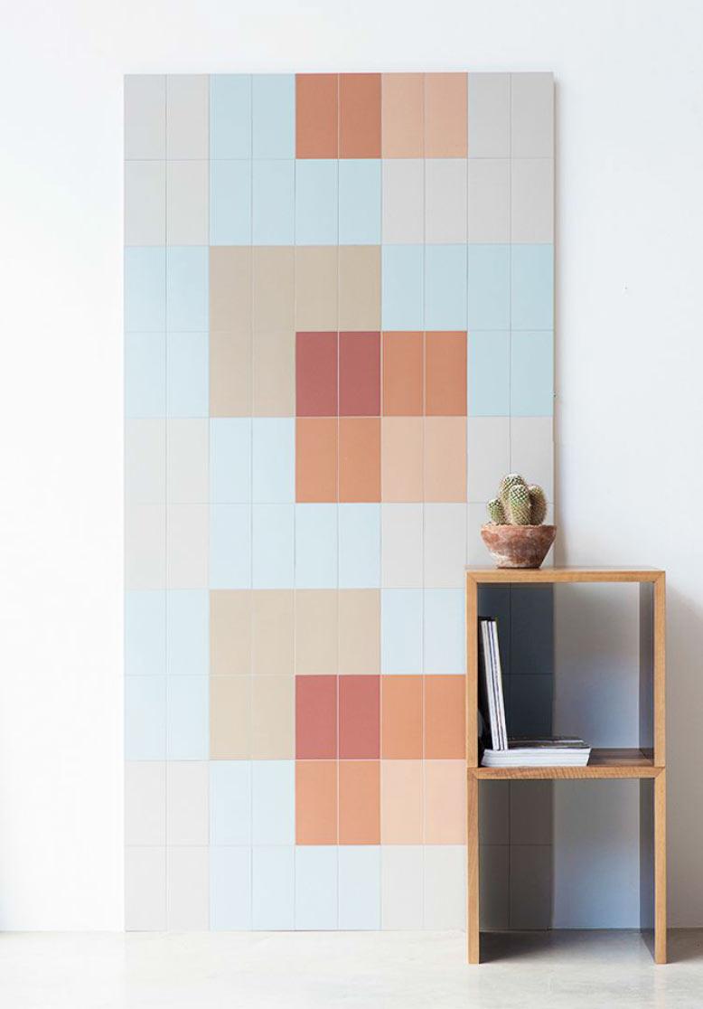 Loại gạch ốp tường với tông màu pastel tươi mới