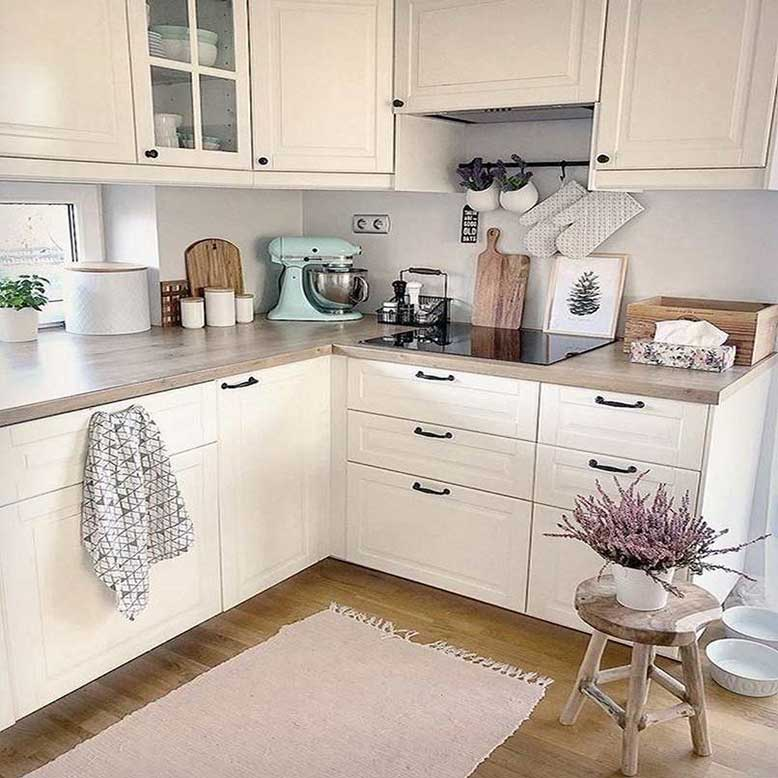 Mẫu nhà bếp nhỏ đẹp 2_ Tủ bếp hình chữ L