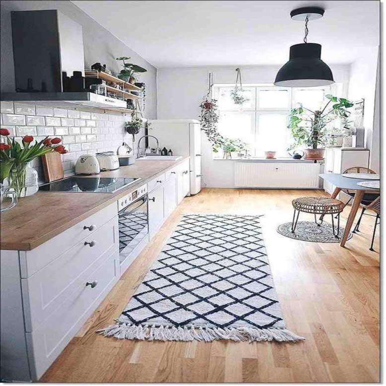 Mẫu nhà bếp nhỏ đẹp 5_ ánh sáng là yếu tố quan trọng cho nhà bếp