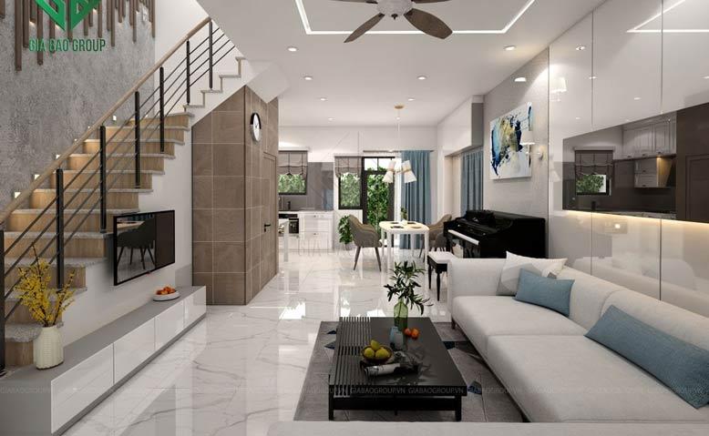 Những mẫu phòng khách có cầu thang đẹp từ Gia Bảo Group