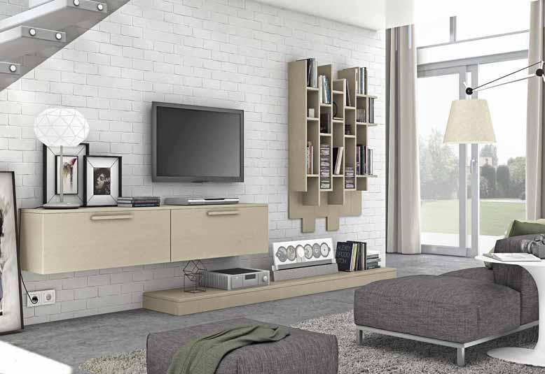 Kệ treo tường phòng khách 2 ngăn màu sắc sang trọng
