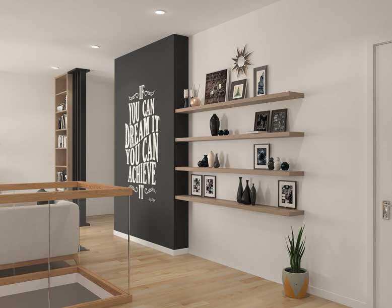 Mẫu kệ treo tường được nhiều gia đình yêu lựa chọn bởi sự sáng tạo trong thiết kế, kiểu dáng đơn giản nhưng mang tính thẩm mỹ cao