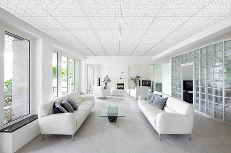 Mẫu trần thạch cao phòng khách hiện đại phù hợp xu hướng
