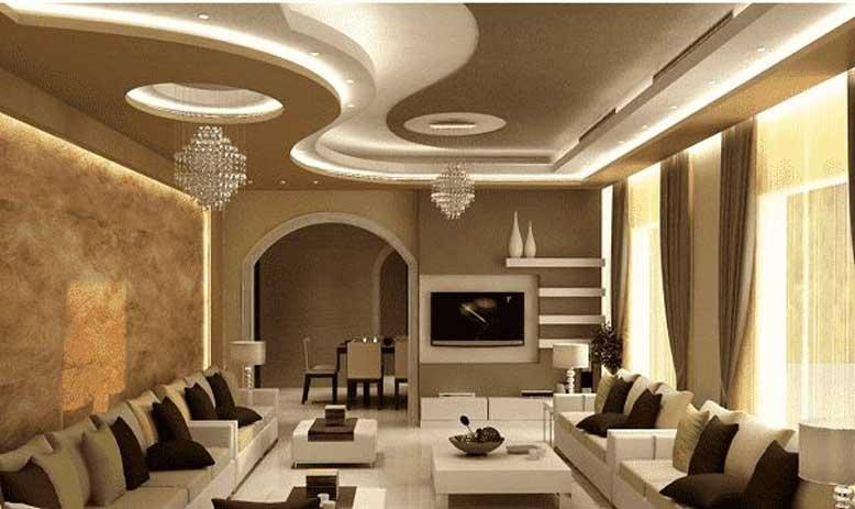 Mẫu trần thạch cao phòng khách đẹp cho nội thất nhà ống lung linh
