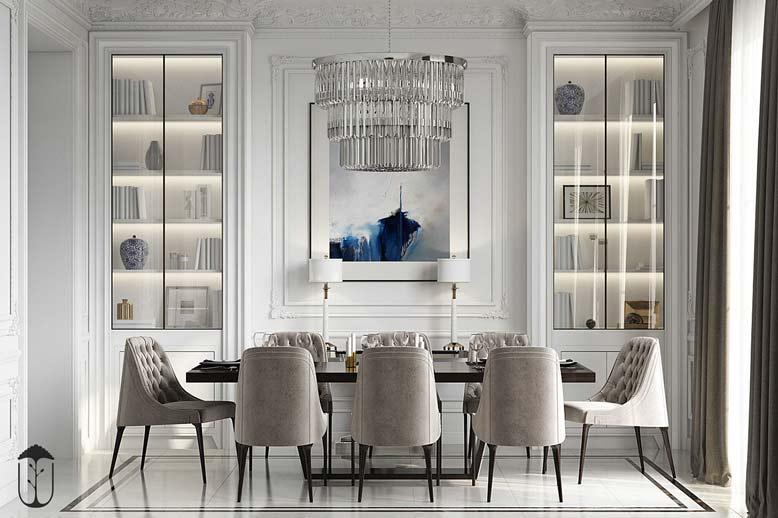 Thiết kế nội thất chung cư tân cổ điển sang trọng