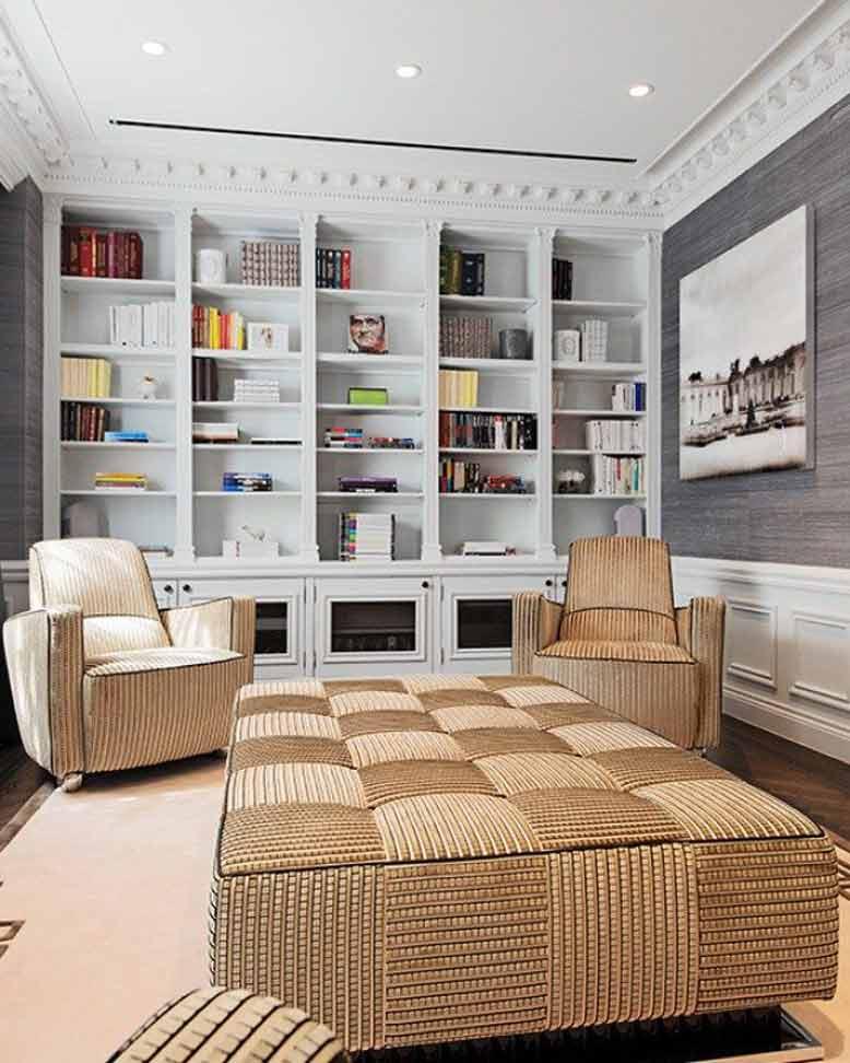 Thiết kế phòng đọc sách căn hộ chung cư với phong cách tân cổ điển