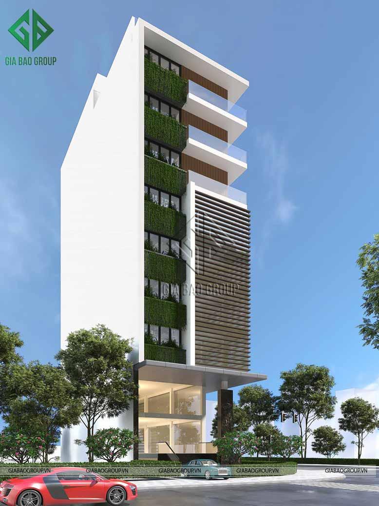 Thiết kế cao ốc chú trọng vào cấu tạo kiến trúc