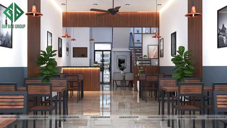 Vật liệu sử dụng để thiết kế quán ăn cần đảm bảo chất lượng và độ bền bỉ theo thời gian