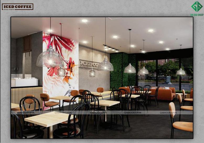 Thiết kế quán cafe với màu sắc nhã nhặn, ấm áp