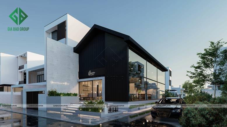 Thiết kế quán cafe đẹp Ours coffee theo phong cách hiện đại