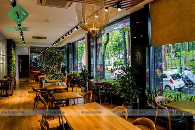 Thiết kế quán cafe đơn giản sang trọng