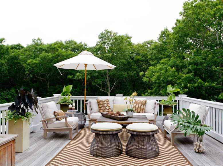 Sân thượng đón gió mát mẻ, thư giãn và thoải mái