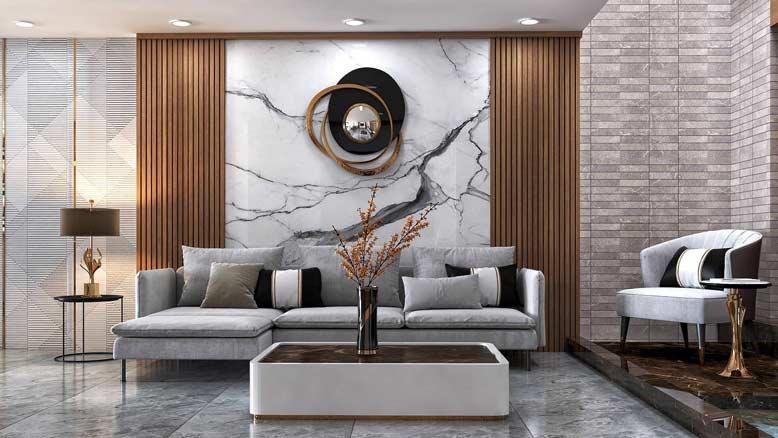 Phong cách thiết kế nội thất căn hộ phòng khách hiện đại