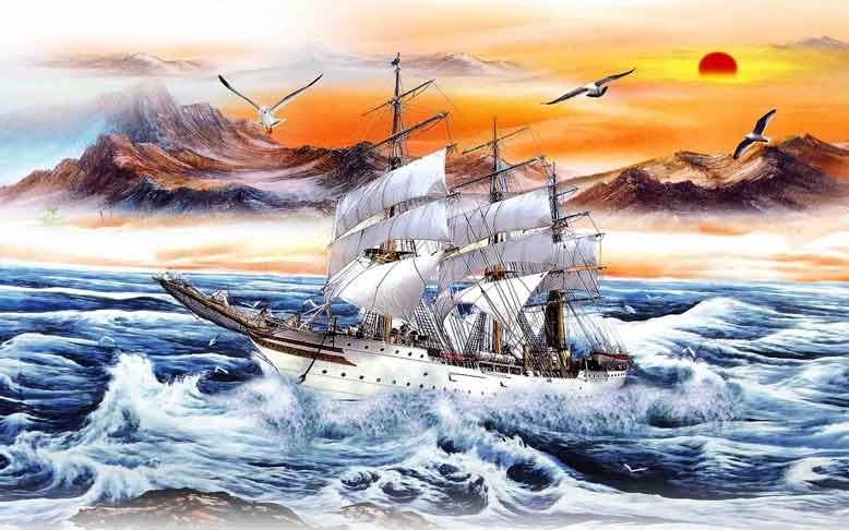Tranh treo tường mang ý nghĩa thuận buồm xuôi gió