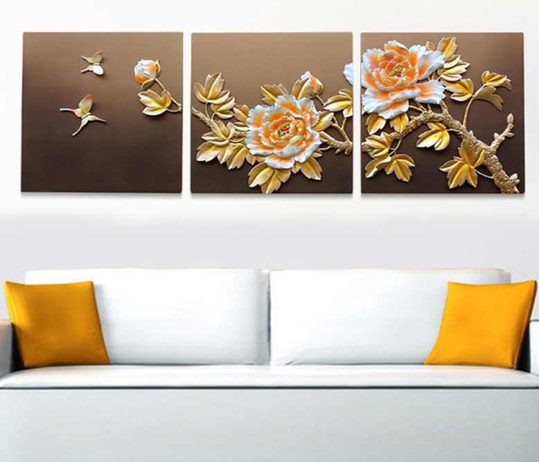 Tranh 3D treo phòng khách với họa tiết sắc sảo và đẹp mắt