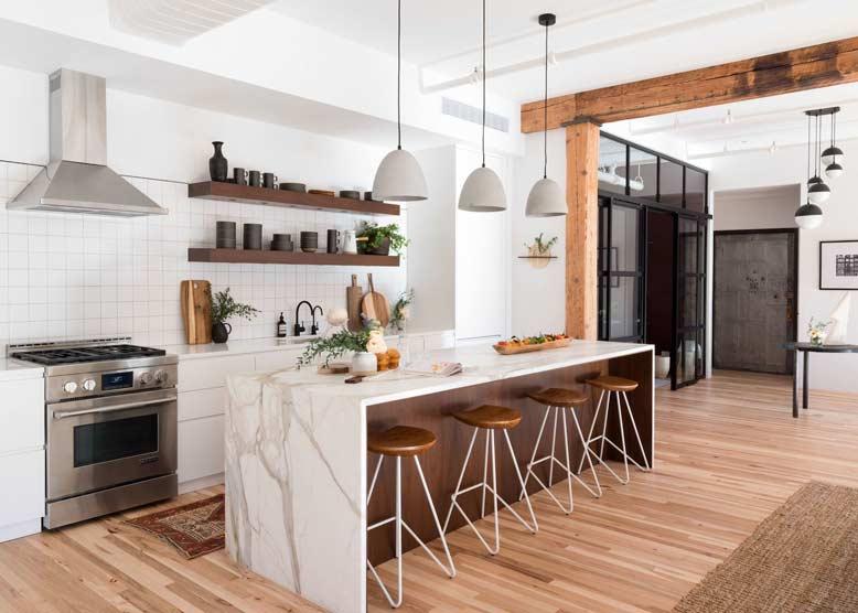 Thiết kế phòng bếp hiện đại và lạ mắt