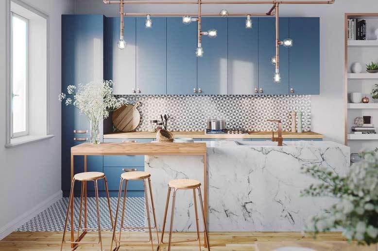 Thiết kế không gian phòng bếp đẹp, ấn tượng ngay từ cái nhìn đầu tiên