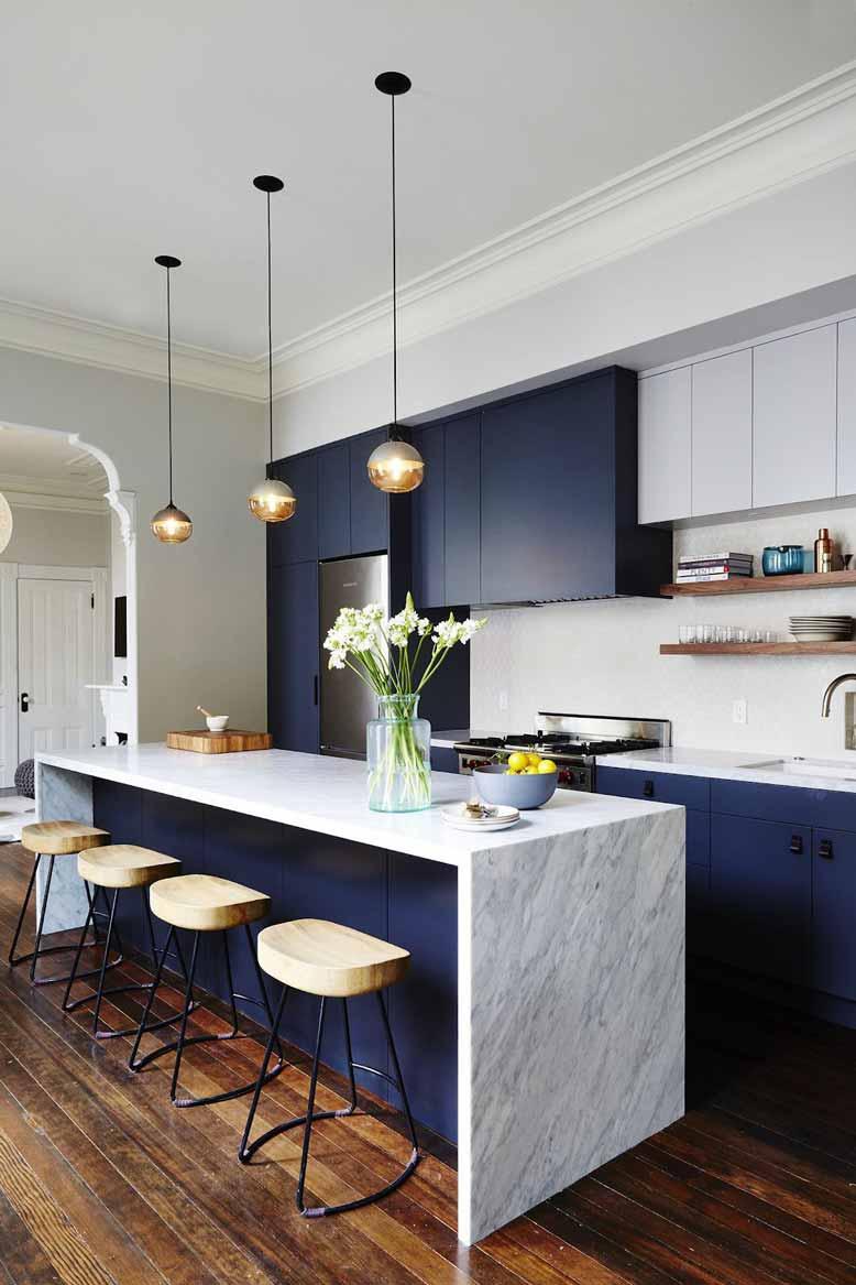 Không gian bếp lý tưởng cho các gia chủ yêu thích phong cách hiện đại