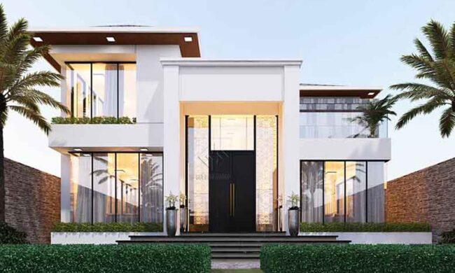 Mẫu thiết kế biệt thự sân vườn hiện đại quận 9 đẹp mê mẩn