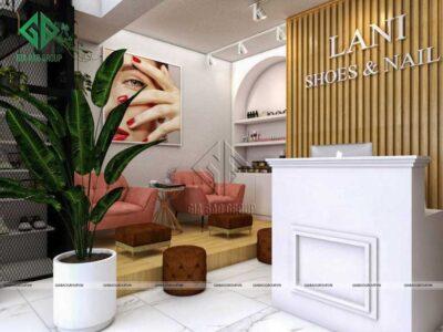 Thiết kế và cải tạo cửa hàng thời trang giầy diện tích nhỏ