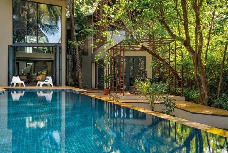 Công trình thi công nhà vườn có hồ bơi độc đáo, ấn tượng tại quận 9