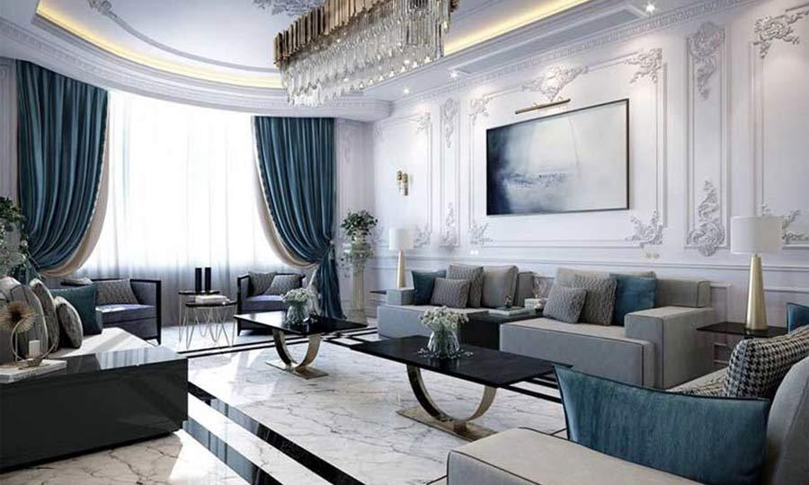 Những mẫu phòng khách tân cổ điển với cách trang trí đẹp mắt