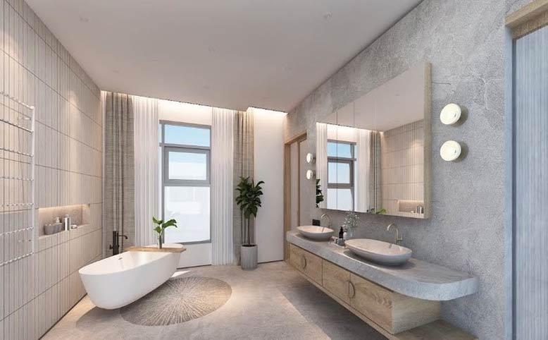 Thiết kế phòng tắm phong cách minimalism