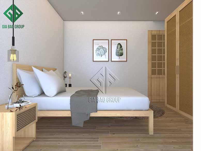 Phòng ngủ yên ả, nhẹ nhàng trong thiết kế nội thất phong cách Mid- Century Modern