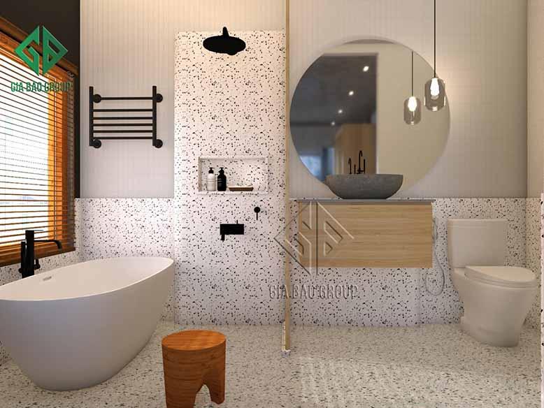 Thiết kế phòng tắmphong cách nội thất mid- century modern
