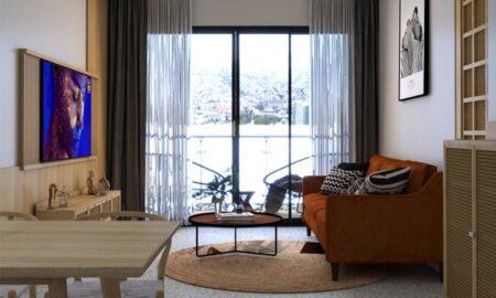 Thiết kế nội thất chung cư phong cách Mid- Century Modern cho căn hộ của Feliz en Vista, quận 2