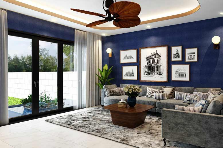 Màu sắc hài hoà trong thiết kế phòng khách hiện đại