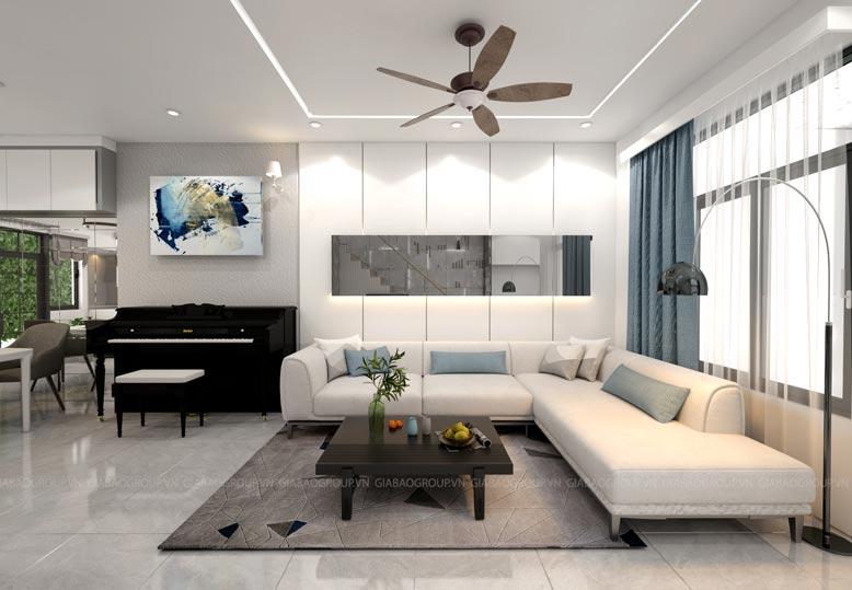 Thi công nội thất đảm bảo yếu tố ánh sáng