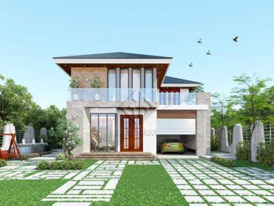Thi công trọn gói công trình biệt thự vườn hiện đại tại Đồng Nai