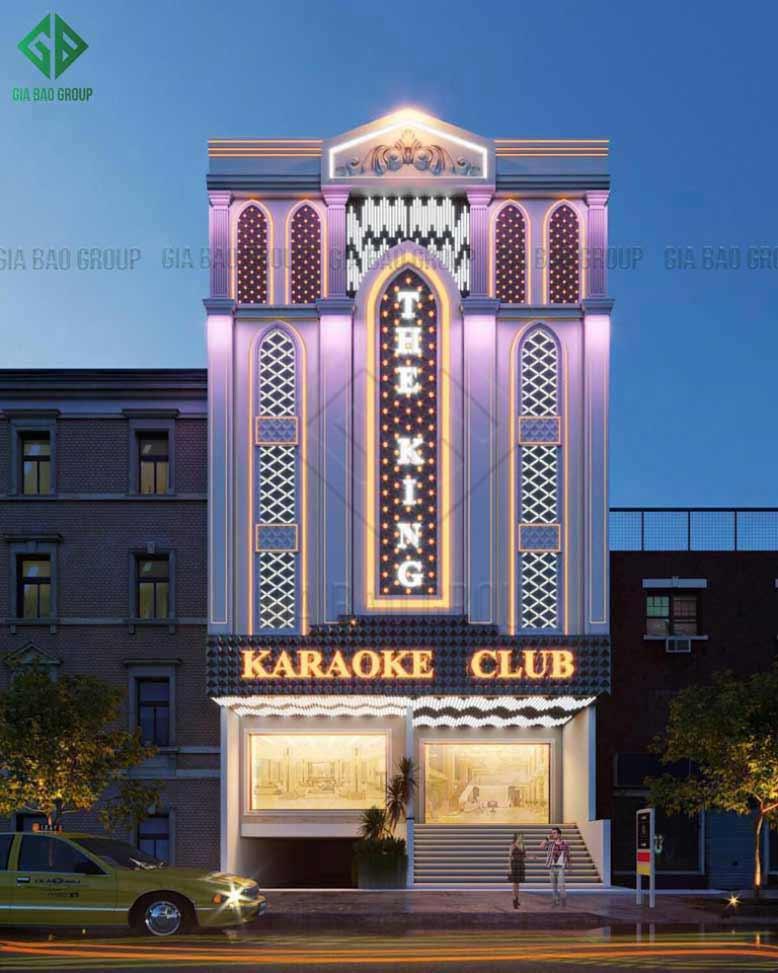 Mẫu quán karaoke tuyệt đẹp - một sản phẩm thi công xây dựng từ Gia Bảo Group
