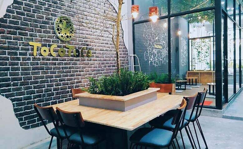 Thiết kế cửa hàng- quán trà sữa phong cách hiện đại