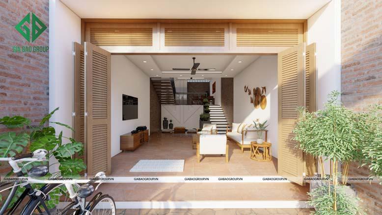 Không gian yên bình của nhà phố 4 tầng hiện đại