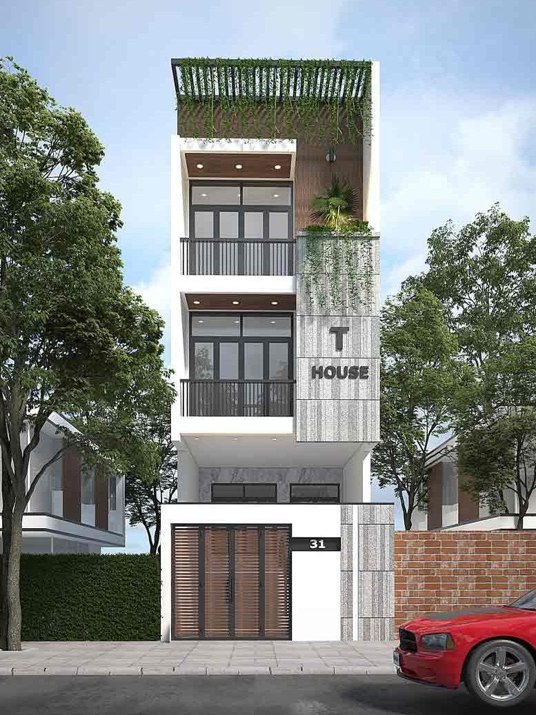 Mẫu nhà phố đẹp và hiện đại
