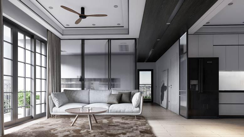 Ánh sáng tự nhiên mang lại sự ấm cúng cho phòng khách
