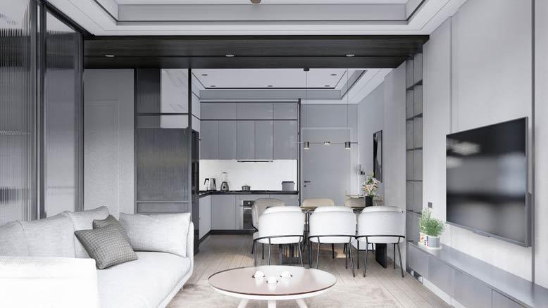 Phòng bếp trong mẫu nội thất thông minh