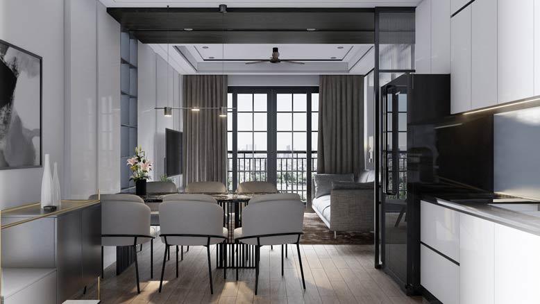 Tham khảo mẫu nội thất thông minh cho căn hộ nhỏ theo phong cách hiện đại