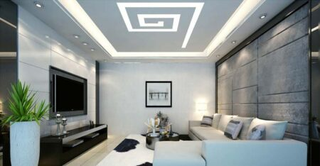 5 mẫu trần thạch cao đẹp dành cho phòng khách hiện đại, sang trọng