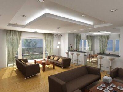 10 mẫu trần thạch cao phòng khách được ưa chuộng nhất hiện nay