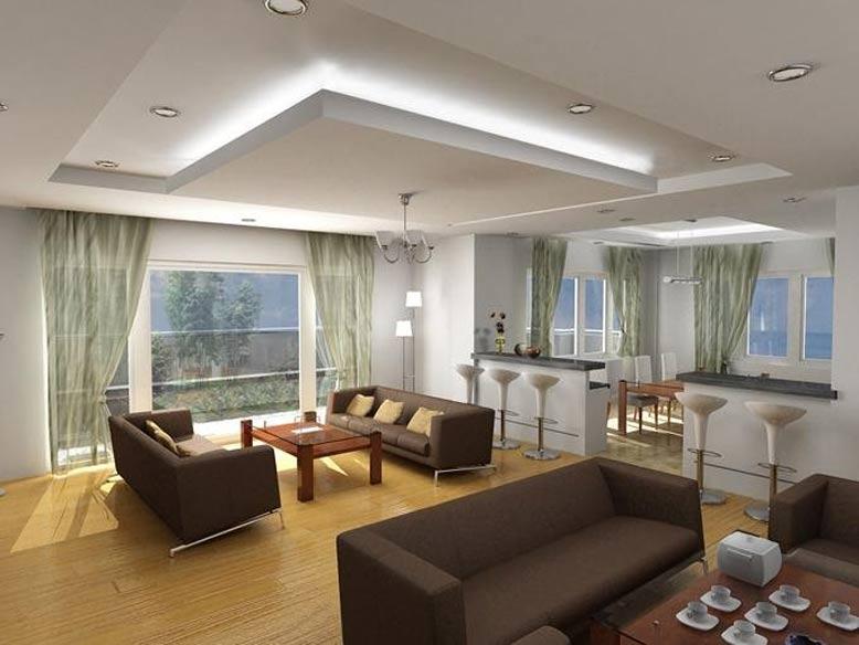 Mẫu trần thạch cao dành cho phòng khách 9