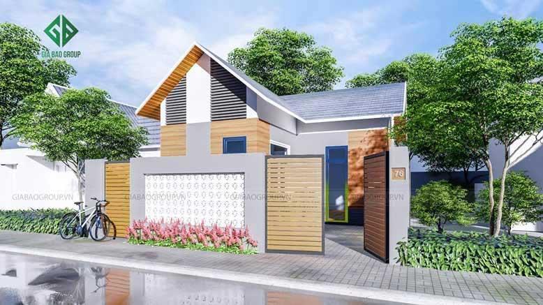 Mẫu thiết kế nhà cấp 4 sân vườn đẹp mắt