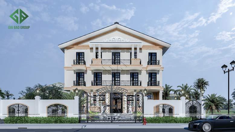 Kiến trúc tân cổ điển sang trọng, thu hút của mẫu nhà ở cao cấp kết hợp dịch vụ thương mại