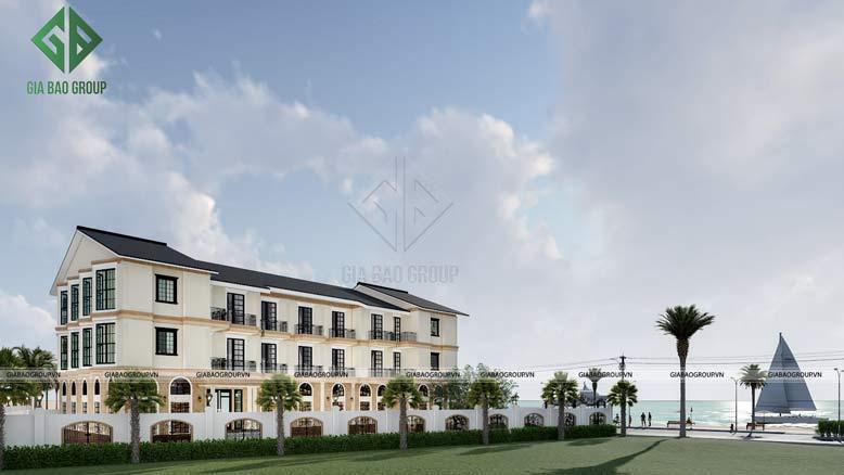 Cảnh quan xanh mát và ấn tượng của mẫu nhà ở cao cấp kết hợp dịch vụ thương mại