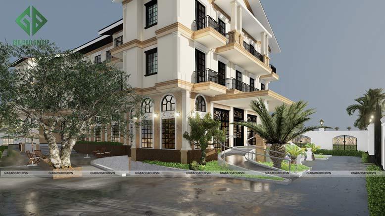 Nhà ở cao cấp kết hợp dịch vụ thương mại chia làm 3 tầng lầu, phục vụ nghỉ ngơi, mua sắm, giải trí