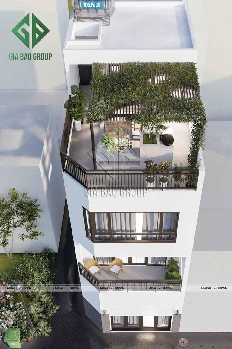 Sân thượng xanh mướt mắt, là nơi gia đình thoải mái tận hưởng không khí trong lành
