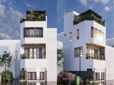 Mẫu nhà phố 1 trệt 2 lầu quận Tân Bình thiết kế hiện đại với 5x 8,5m