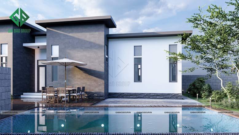 Thiết kế hồ bơi rộng rãi